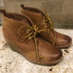 S perry Topsider Halle Wedge Lace Booties 8
